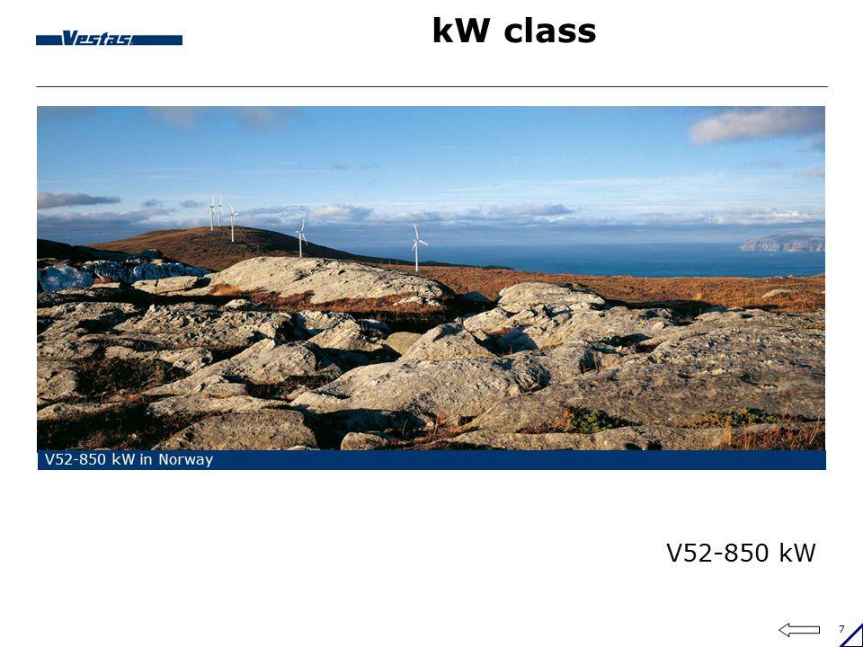 7 kW class V52-850 kW in Norway V52-850 kW