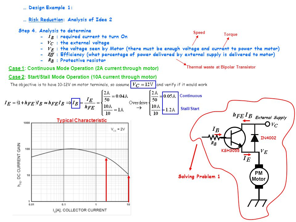 PM Motor External Supply Solving Problem 1 IN4002 KSH3055 Step 4.