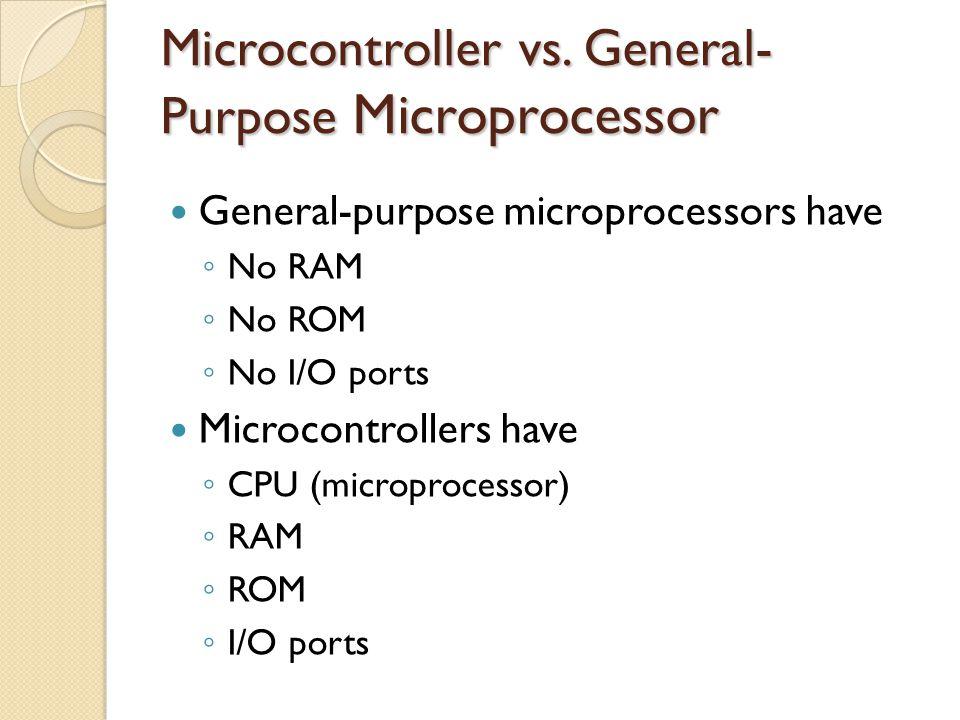 8051 Microcontroller (cont.)
