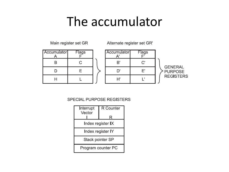 The accumulator