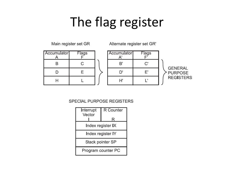 The flag register
