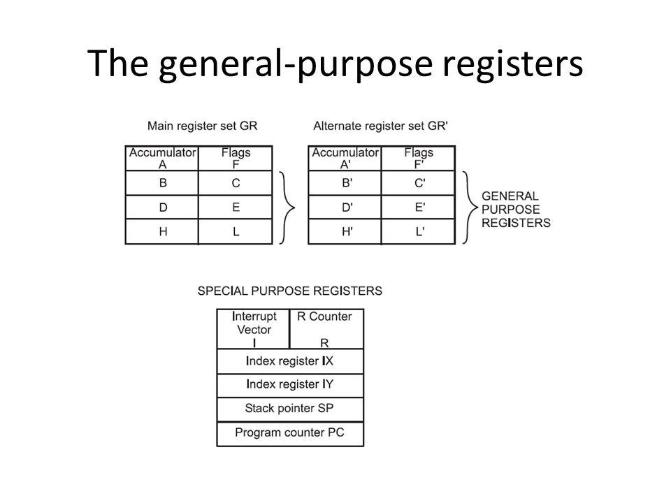 The general-purpose registers