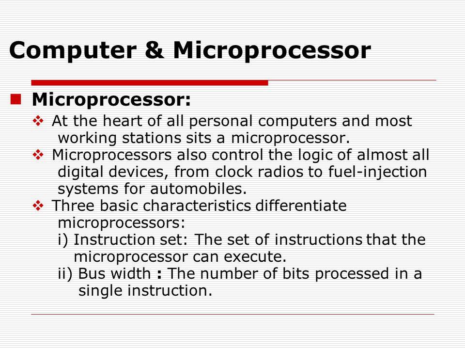 Microarchitecture of 8086/8088 Microprocessor
