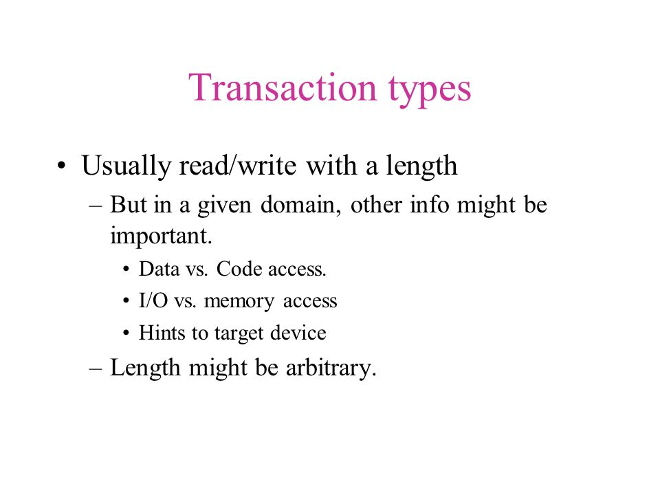 Simple PCI read transaction CLK AD[0:31] FRAME# C/BE# IRDY# TRDY# ??ADS ??CMDBE D1D2D3