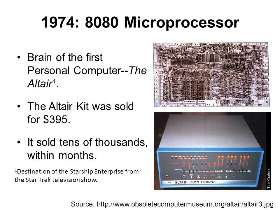 Microporcessor 8008 8080 Data Word8-Bit Clock 800KHz ~2MHz Address Space16 KB64 KB Instructions48 Addressing ModesRegister Reg.