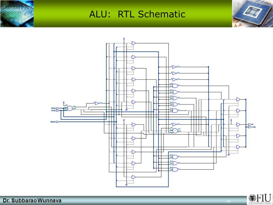 Dr. Subbarao Wunnava 16 ALU: RTL Schematic