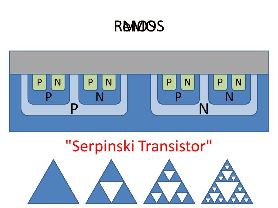 Fractal Fabrication Serpinski Transistor MOS ReMOS PN PNPN NPNPNPNP