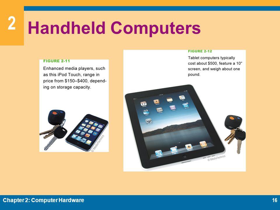 2 Handheld Computers Chapter 2: Computer Hardware16