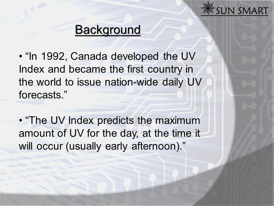 Sources of Information Environment Canada, http://www.msc.ec.gc.ca/ KTVU, http://www.ktvu.com/wxmap/3978600/detail.html Oriel Goldilux, http://www.newport.com/store/genproduct.aspx?id=378893&lang=1033&Section=Pricing Medical News Today, http://www.medicalnewstoday.com/articles/142133.php ThomasNet, http://news.thomasnet.com/fullstory/9776