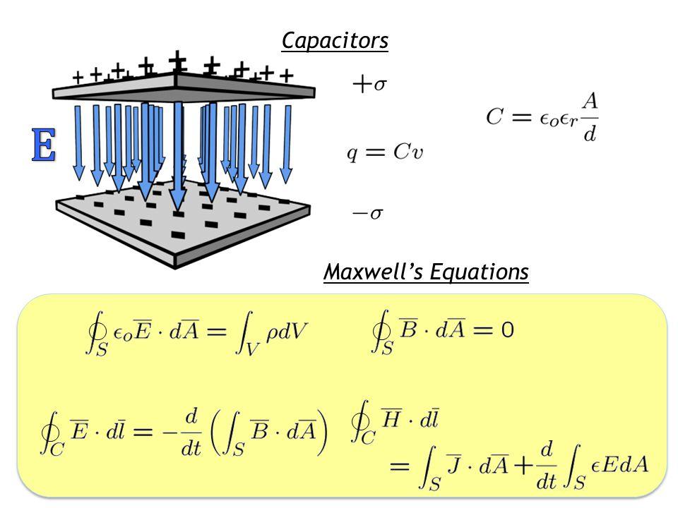 Capacitors Maxwell's Equations