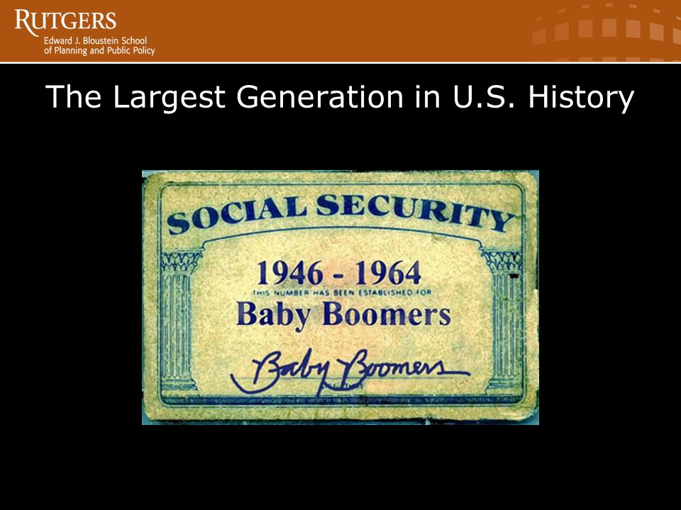 The Largest Generation in U.S. History