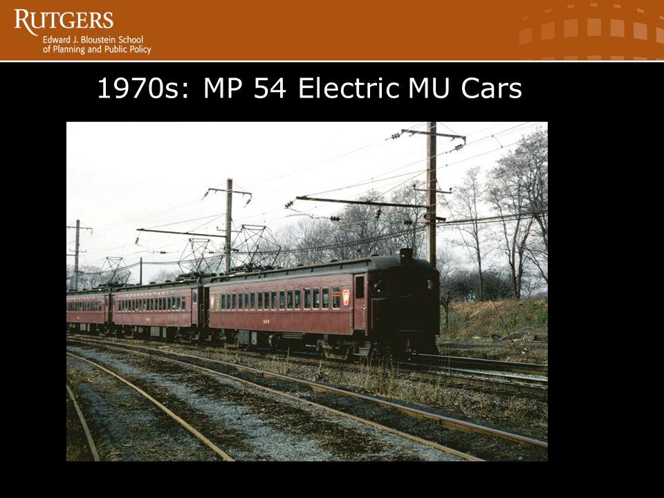 1970s: MP 54 Electric MU Cars Electric MU Cars