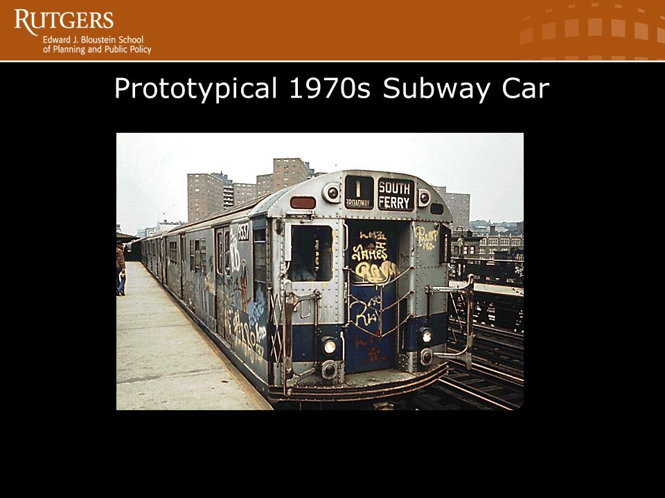 Prototypical 1970s Subway Car