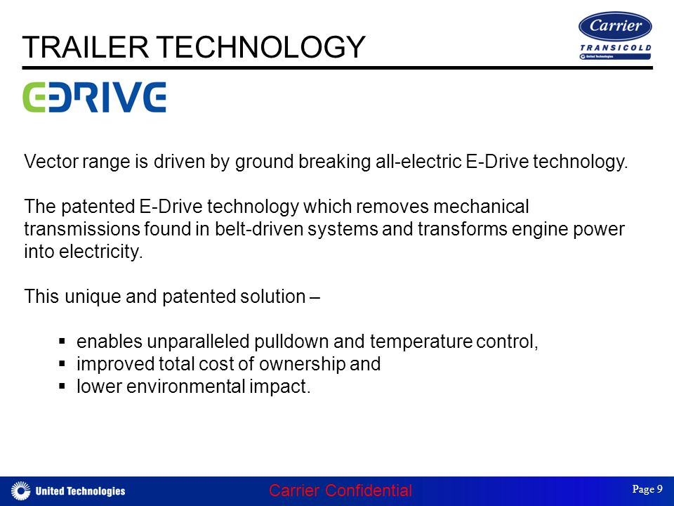 E-Drive technology Vector range is driven by ground breaking all-electric E-Drive technology.