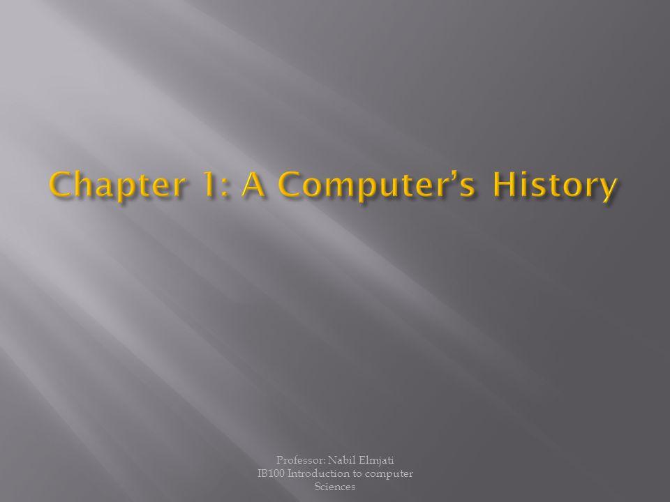 Professor: Nabil Elmjati IB100 Introduction to computer Sciences