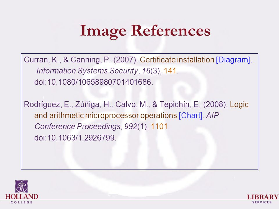 Image References Curran, K., & Canning, P. (2007).