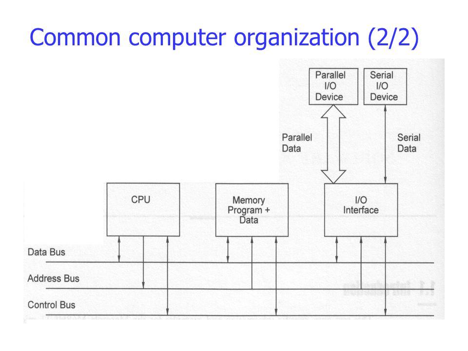 Common computer organization (2/2)