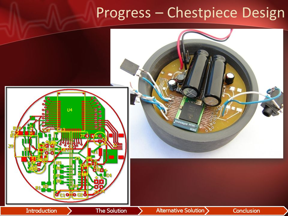 Progress – Chestpiece Design IntroductionThe Solution Alternative Solution Conclusion