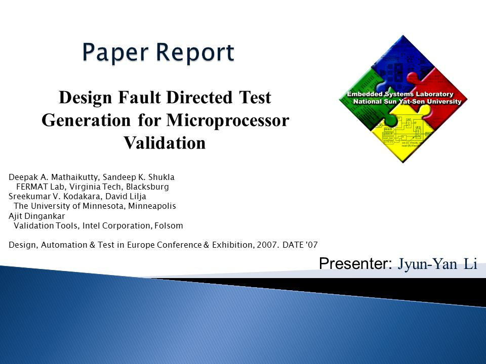 Functional validation of modern microprocessors is an important and complex problem.