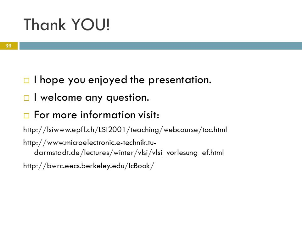 Thank YOU.  I hope you enjoyed the presentation.