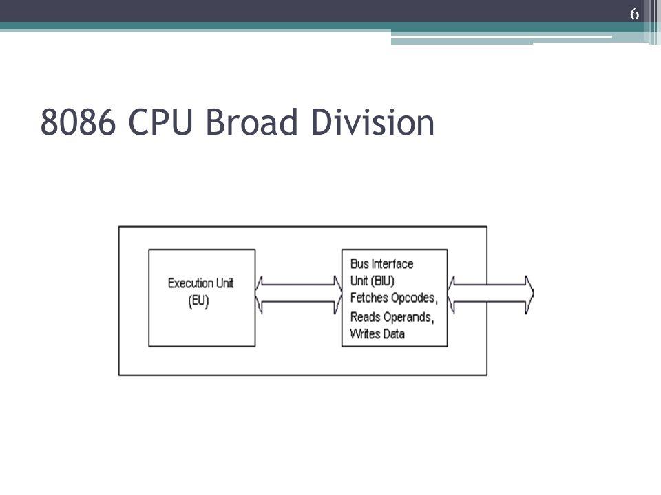 8086 CPU Broad Division 6