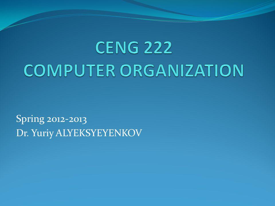 Spring 2012-2013 Dr. Yuriy ALYEKSYEYENKOV