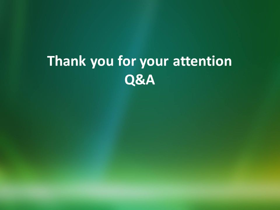 Thank you for your attention Q&A