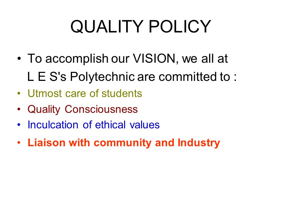 VISION Latthe Education Society's Polytechnic wishes to be an institute of National Reputation by imparting Sound Technical Knowledge and Value-based