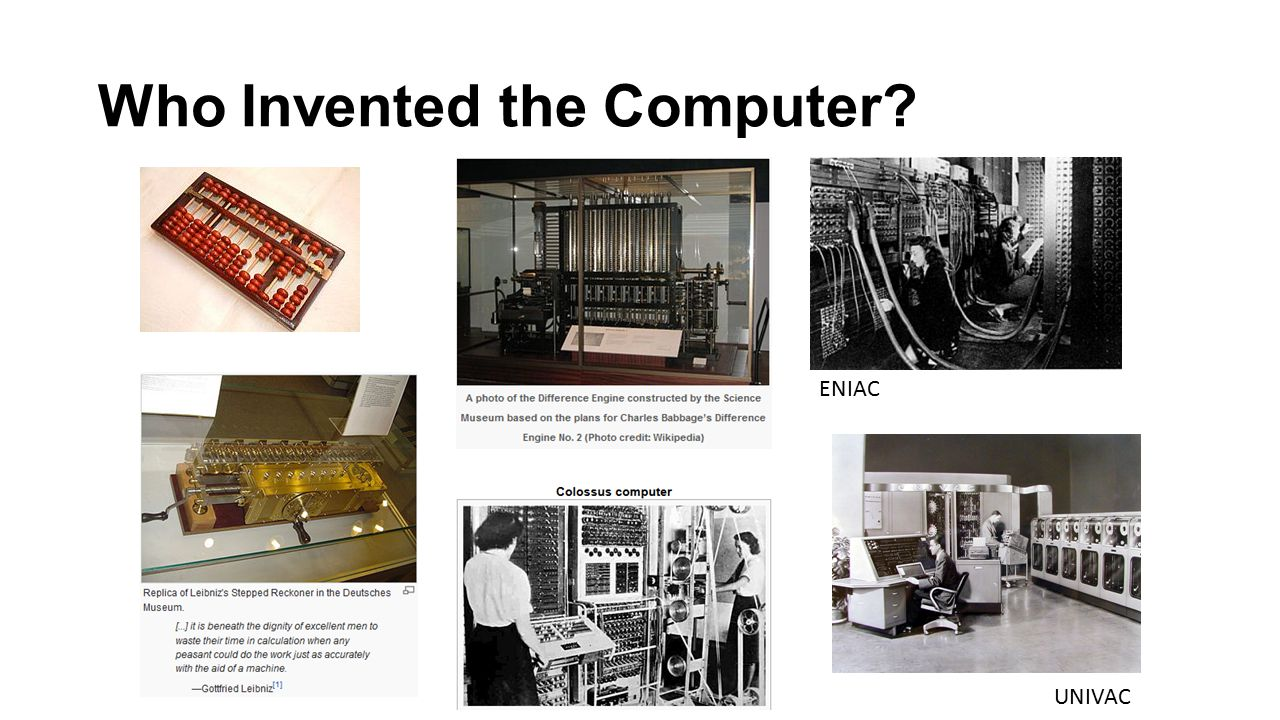 Who Invented the Computer ENIAC UNIVAC