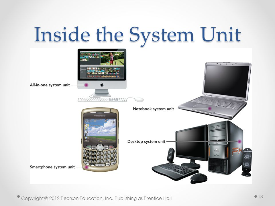 Inside the System Unit Copyright © 2012 Pearson Education, Inc. Publishing as Prentice Hall 13