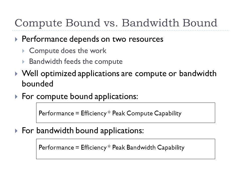 Compute Bound vs.