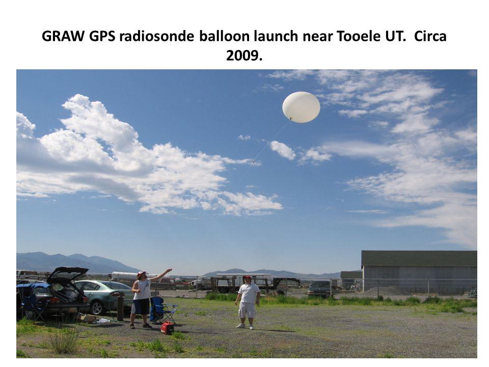 GRAW GPS radiosonde balloon launch near Tooele UT. Circa 2009.