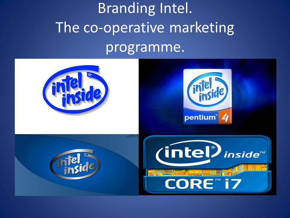 Branding Intel. The co-operative marketing programme.