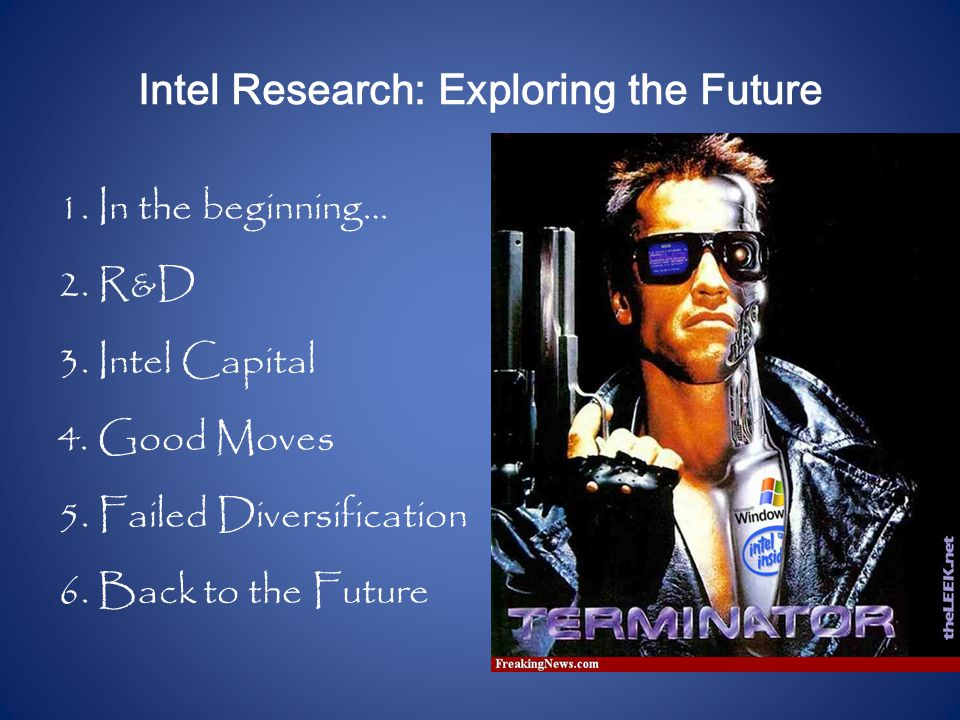 Intel Research: Exploring the Future 1. In the beginning… 2.