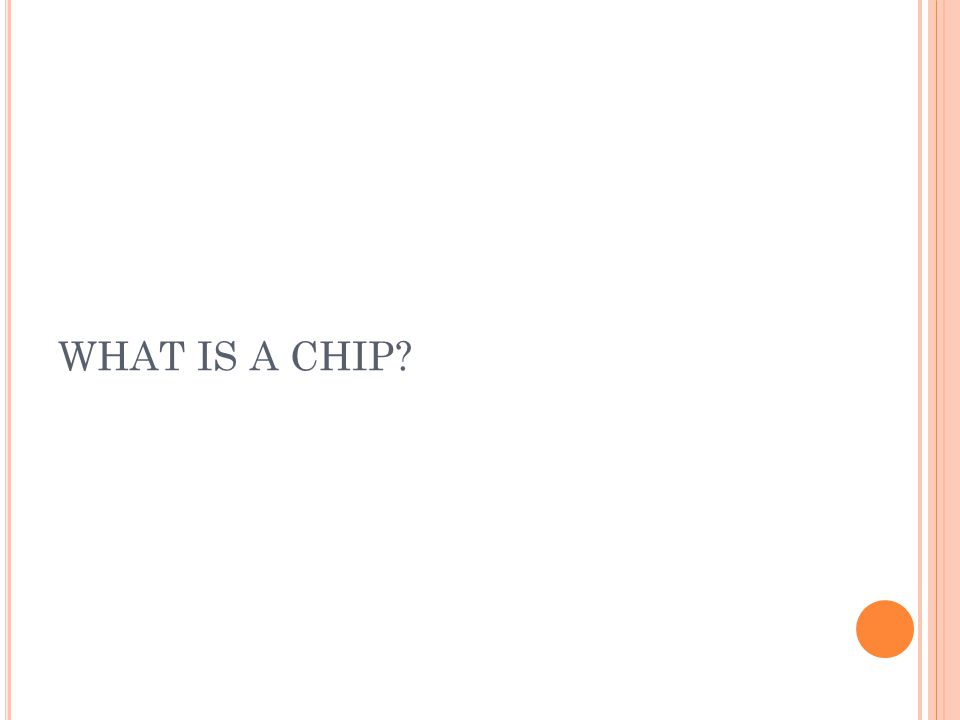WHAT IS A CHIP
