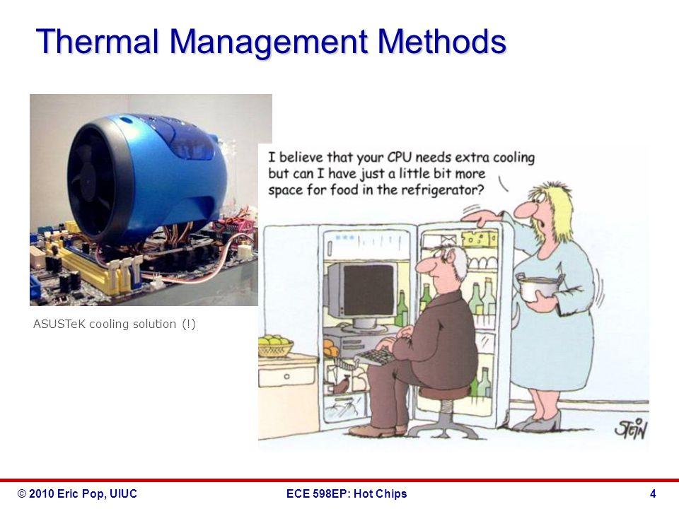 © 2010 Eric Pop, UIUCECE 598EP: Hot Chips 4 Thermal Management Methods ASUSTeK cooling solution (!)