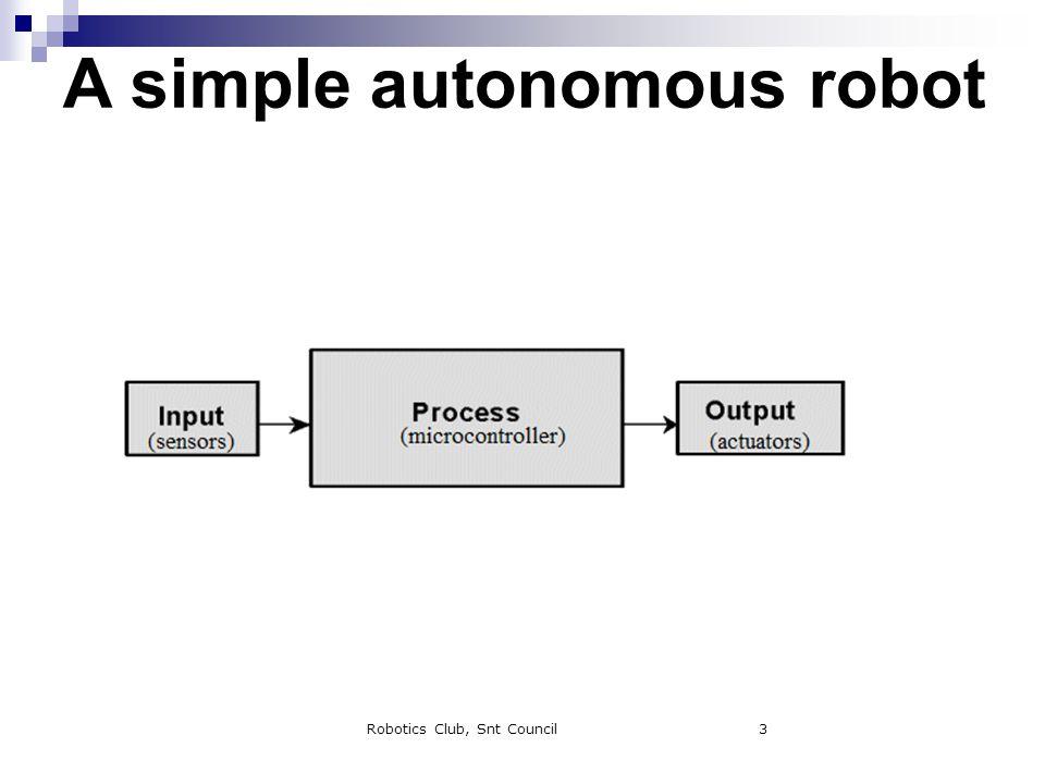 Robotics Club, Snt Council3 A simple autonomous robot