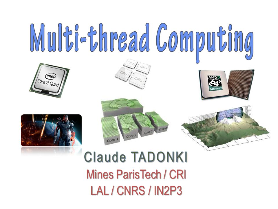 claude.tadonki@mines-paristech.fr claude.tadonki@u-psud.fr Joining and Detaching Threads Joining Joining is one way to implement synchronization between threads.