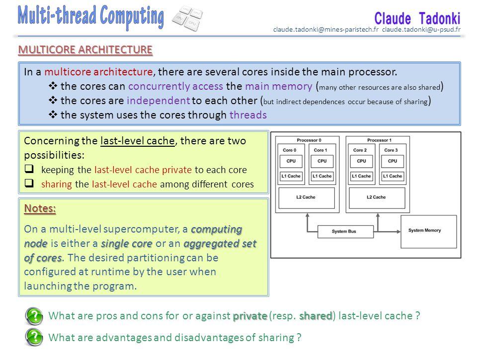 claude.tadonki@mines-paristech.fr claude.tadonki@u-psud.fr The Pthread API How could we easily recognize a Pthreaded program.