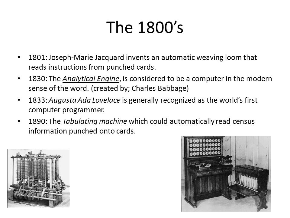 The 1900's 1941: The Z3, was the world's first fully functional, programmed- controlled computer.