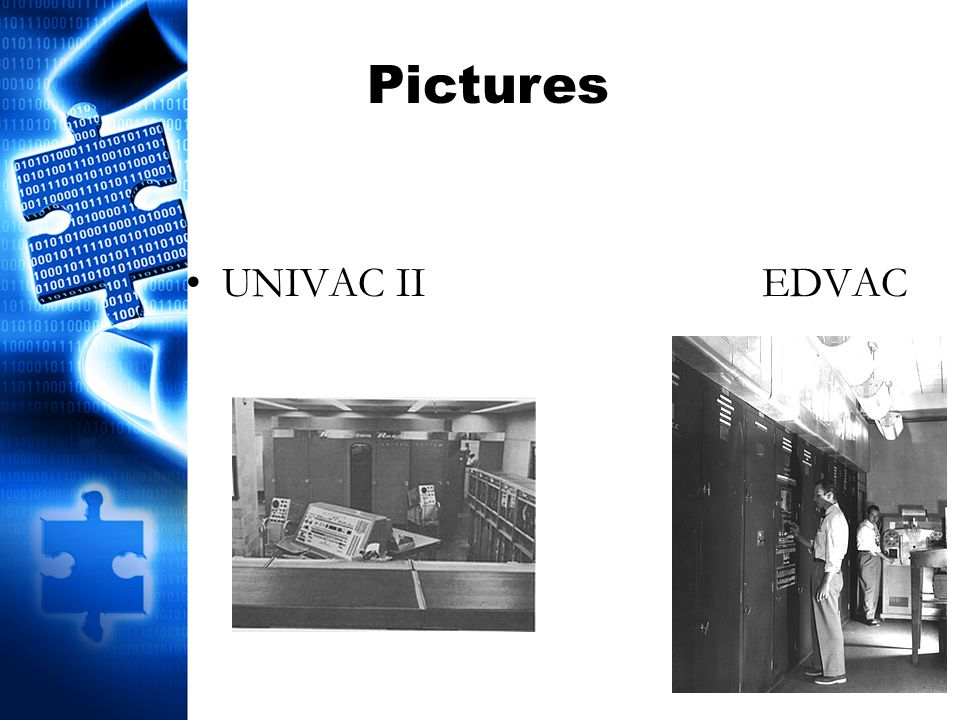 UNIVAC IIEDVAC Pictures