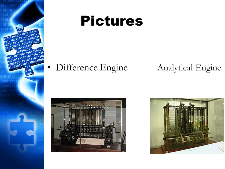 Pictures Difference Engine Analytical Engine