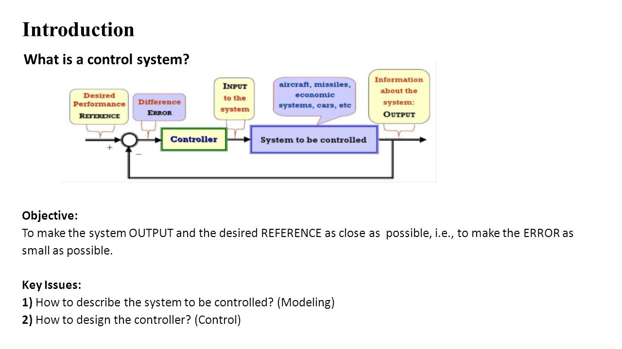Introduction What is important in a control system.