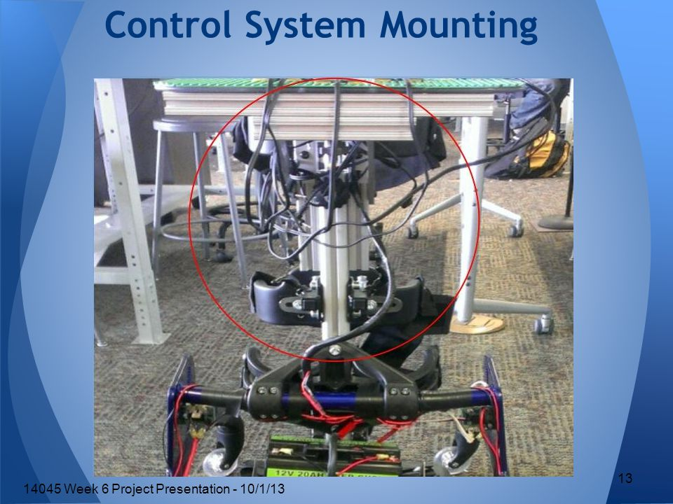 Control System Mounting 13 14045 Week 6 Project Presentation - 10/1/13