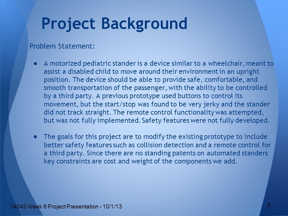 Test Plan Outline 47 14045 Week 6 Project Presentation - 10/1/13
