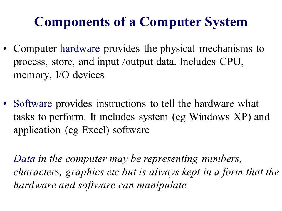 Block Diagram of a Computer Main Memory IOD IO Modules CPU