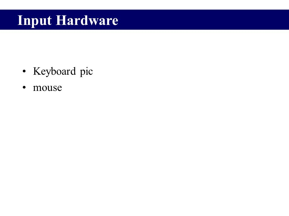 1Hardware- the CPU CPU performs actual processing of data, according to instructions from programs.