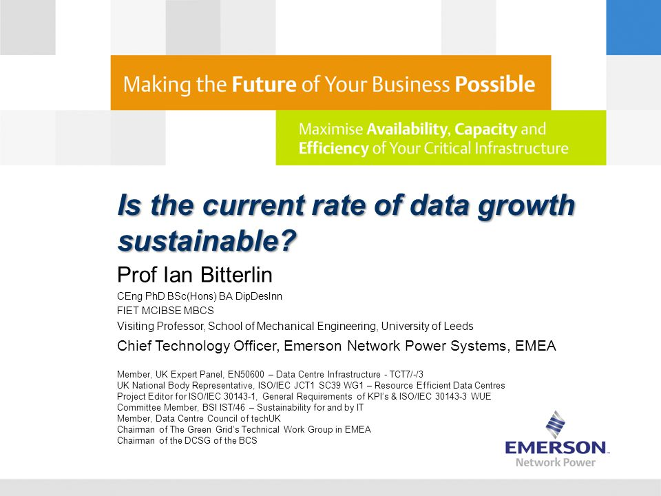 Is the current rate of data growth sustainable.