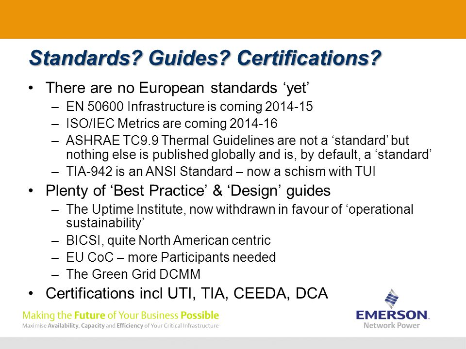 Standards. Guides. Certifications.