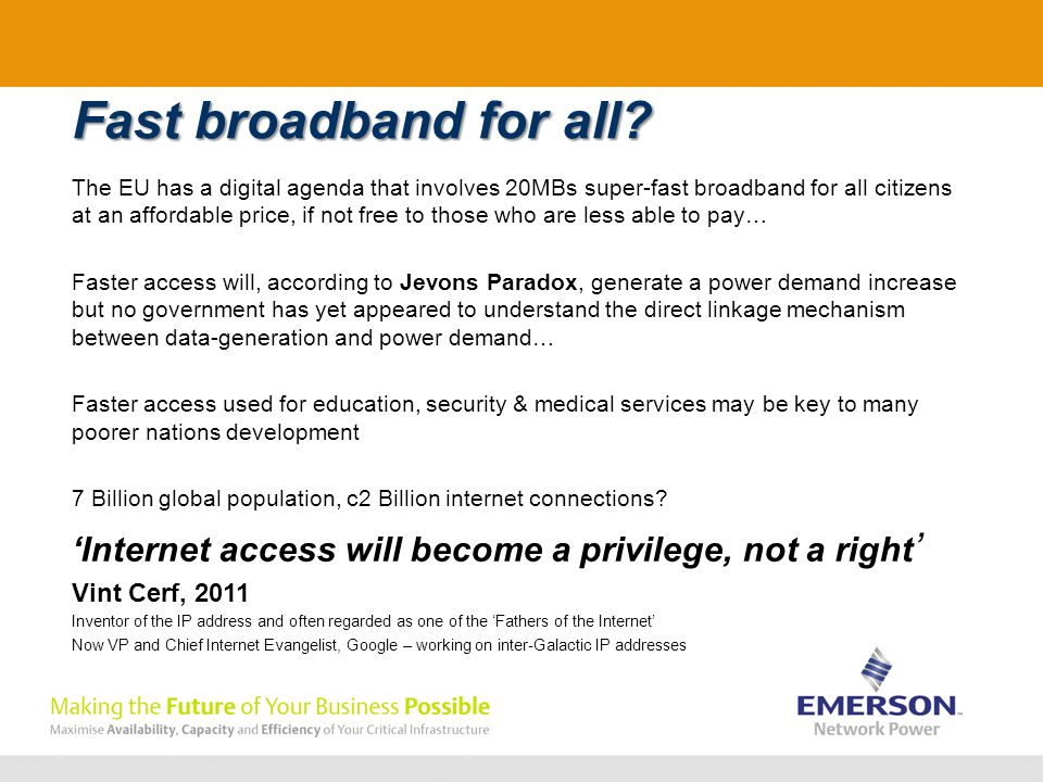 Fast broadband for all.